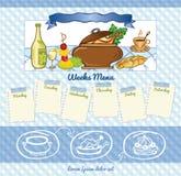 Food menu template Royalty Free Stock Photos