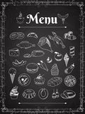 Food menu Stock Image