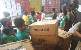 Food for merapi eruption refugees Stock Images