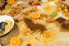 Food mess Stock Images