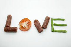 Food message love Stock Photo