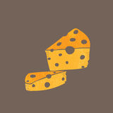 Food milk product cheese cartoon drawing Royalty Free Stock Image