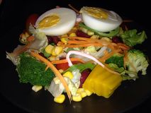 Food. Mix Salad and egg Stock Images