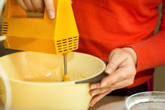 Food mixer with bowl Royalty Free Stock Image
