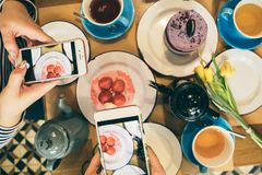 Food mobile photo party. Desserts cafe breakfast. Food mobile photo carbohydrate party. Desserts cafe breakfast mobile photo royalty free stock photo