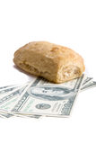 Food or Money. A picture of the fight against hunger Stock Image