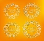 Food monograms orange Stock Photo
