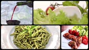 Food montage stock video footage