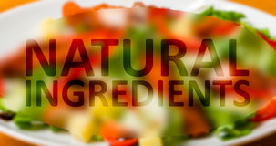 Food with natural ingredients Stock Photos