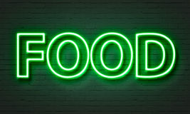 Food neon sign Royalty Free Stock Photography