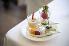 Food. Nicely decorated snacks in a plate Royalty Free Stock Image