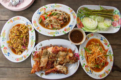 Food in the Northeast of Thailand Royalty Free Stock Image