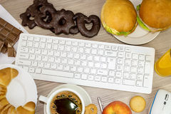 Food in the office Stock Photography