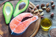 Food with Omega-3 fats Royalty Free Stock Images