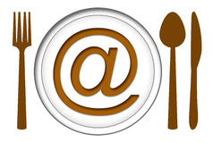 Food Online Royalty Free Stock Image