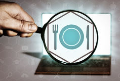 Food order, restaurant search, booking a table, etc. Stock Photography