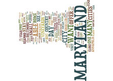 Food And Other Treats In Maryland Text Background  Word Cloud Concept Royalty Free Stock Photo
