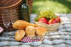 Food for outdoor picnic Royalty Free Stock Images