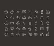 Food outline icon Royalty Free Stock Image