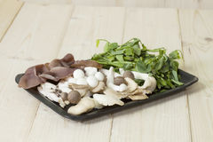 Food pack mushrooms Stock Photography