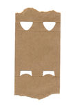 Food package paper fragment on white Stock Photo
