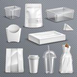 Food Packaging Realistic Transparent set vector illustration