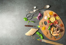 Food palette concept royalty free stock image