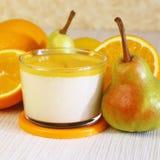 Food. Panna cotta. Italian milk citrus dessert made of yogurt an royalty free stock photography