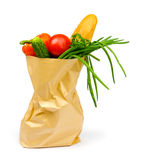 Food in paper bag Royalty Free Stock Photos