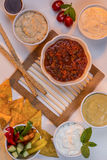 Food - Party Dips - Bread Sticks Stock Images