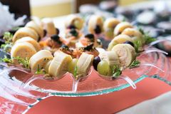 Food on party Stock Images