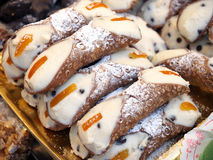 Food and pastry. Cannoli from Sicily Stock Image