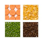 Food patchwork Royalty Free Stock Image