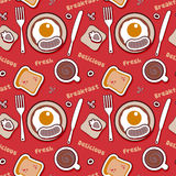 Food pattern with breakfast. Royalty Free Stock Image