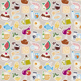 Food pattern Stock Photography