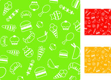 Food patterns Royalty Free Stock Photos