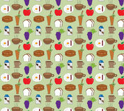 Food patterns backgrounds. Food and drink pattern background texture Stock Photo