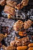 A juicy barbecued cuisine. A food photo of barbecued or grilled cuisine stock photo