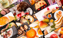 Food photo collage Royalty Free Stock Photo