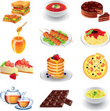 Food photo realistic  set Stock Image