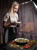Food photography backstage work lifestyle Stock Image