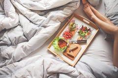 Food Photography Breakfast on Bread Illustration Stock Photo