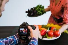 Food photography photo studio teamwork art blog Stock Photos