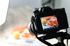 Food photography production stock image