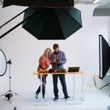 Food photography teamwork studio photographer Stock Photos