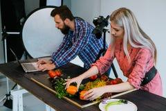 Food photography teamwork studio photographer Stock Photo