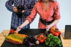 Food photography teamwork studio photographer Stock Photography