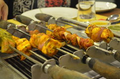 Food Photography. Veg barbecue the is been served in one of the restaurant in Bangalore Royalty Free Stock Photo