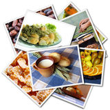 Food photos collage Stock Photos