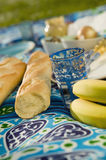 Food on picnic blanket,close-up Royalty Free Stock Image